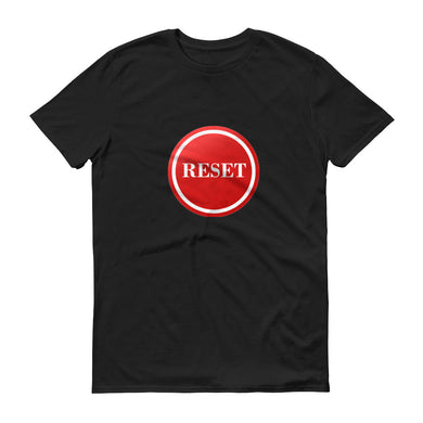 Reset Button (white) unisex short-sleeve t-shirt