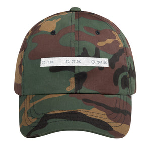 "Twitter inspired "" Comment RT Like "" cap"