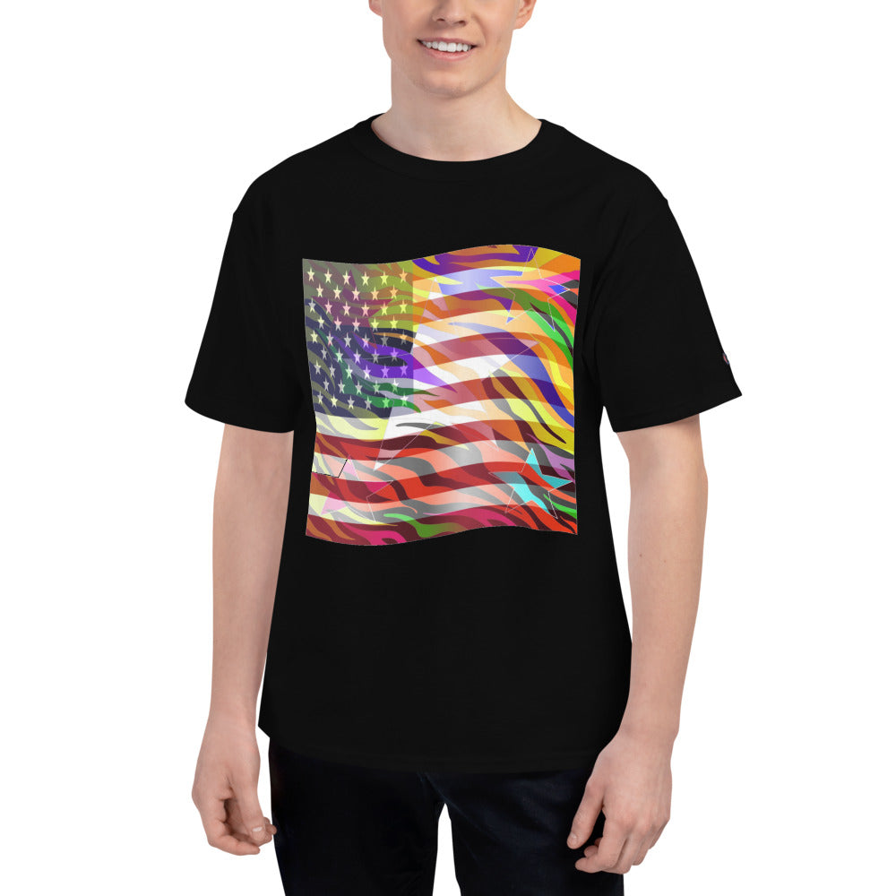 Vertigo™ (American Flag) Men's Short-Sleeve (Champion ™) T-Shirt
