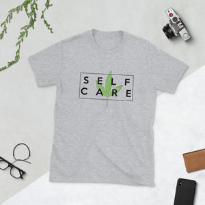 """ Self Care "" ( cannabis / black ) short-sleeve unisex tee"