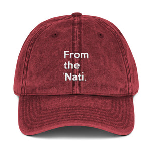""" From the 'Nati ""  (Cincinnati) Vintage Cotton Twill Cap"