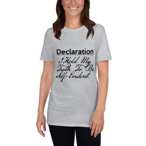 Declaration short-sleeve unisex tee