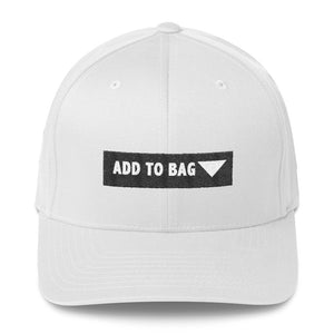 """ Add to Bag "" (shopping cart button) Structured Twill Cap"