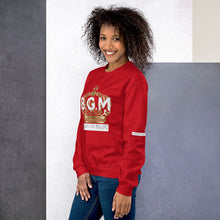Load image into Gallery viewer, B.G.M (Black Girl Magic / gold crown) Unisex Sweatshirt