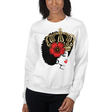 Melanin Melanie (with crown & rose) Unisex Sweatshirt