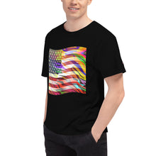 Load image into Gallery viewer, Vertigo™ (American Flag) Men's Short-Sleeve (Champion ™) T-Shirt