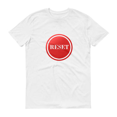 Reset Button (transparent) short-sleeve t-shirt