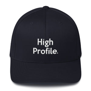 """ High Profile"" Embroidered Structured Twill Cap"