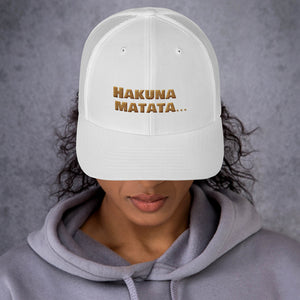 """ Hakuna Matata "" (Lion King inspired) trucker cap"