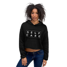"Load image into Gallery viewer, ""Self Care "" Crop Hoodie"