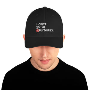 Turbotax embroidered (Mike Bloomberg #DemDebate inspired) structured Twill Cap