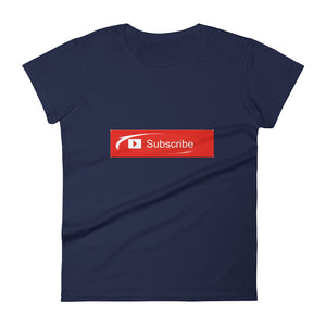"""Subscribe"" (shine) Women's short sleeve tee"