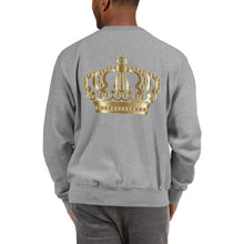 Load image into Gallery viewer, Michael Jackson White Silhouette No Crown Front Crown on back Champion™ Sweatshirt
