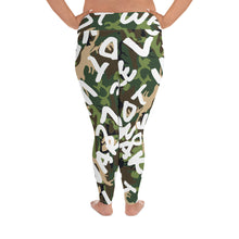 Load image into Gallery viewer, Make Love Not War Plus Size Camou LEGGINGS