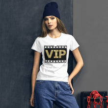 "Load image into Gallery viewer, "" VIP "" (film strip) Women's short sleeve tee"