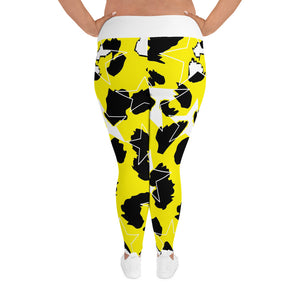 Ani-Star All-Over Print Plus Size Leggings