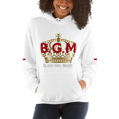 B.G.M (Black Girl Magic / gold crown) Unisex Hoodie