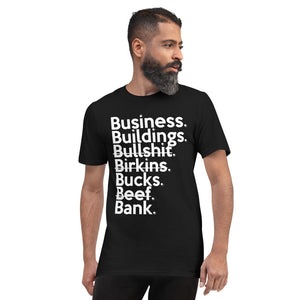 Ari Fletcher  Inspired Business Over Bullsh*t (Unisex Anvil 980) Short-Sleeve T-Shirt