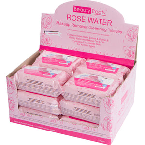 120-RW - ROSE WATER MAKEUP REMOVER CLEANSING TISSUES