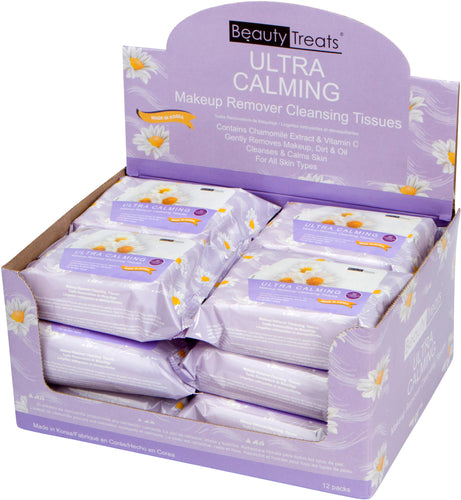 120-UC - ULTRA CALMING MAKEUP REMOVER CLEANSING TISSUES