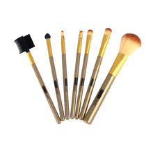 Load image into Gallery viewer, 146 - 7 PIECE BRUSH SET IN POUCH - METALLIC GOLD