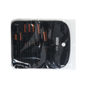 149 - 7 PIECE BRUSH SET IN POUCH - BLACK PYRAMID