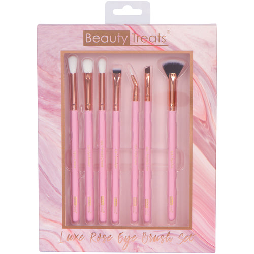 186-B4PINK - LUXE ROSE EYE BRUSH SET