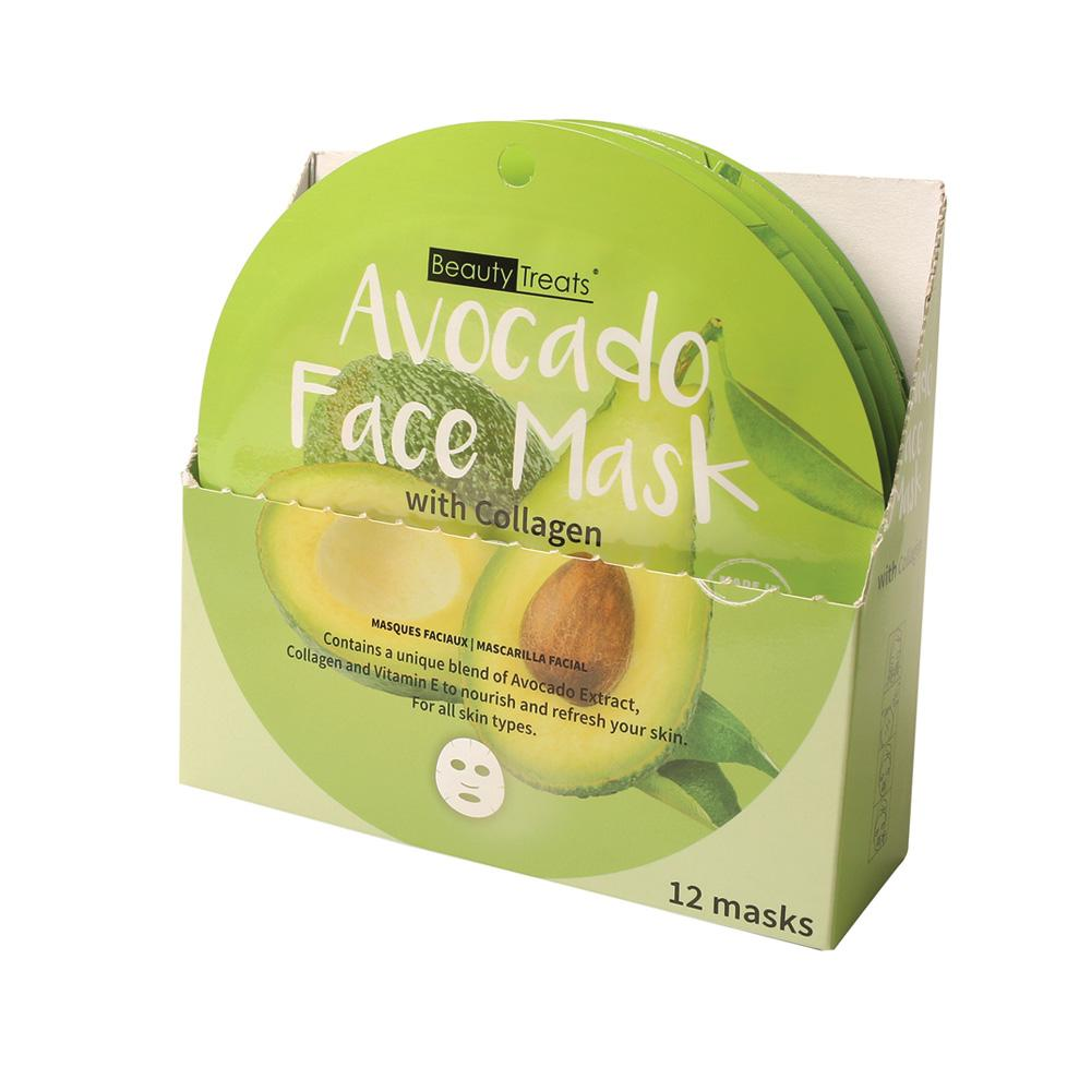 214-AV - AVOCADO FACE MASK WITH COLLAGEN