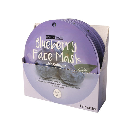 214-BL - BLUEBERRY FACE MASK WITH COLLAGEN