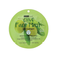 Load image into Gallery viewer, 214-OL - OLIVE FACE MASK WITH COLLAGEN