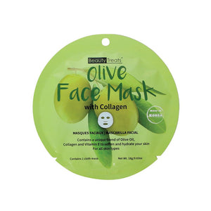 214-OL - OLIVE FACE MASK WITH COLLAGEN