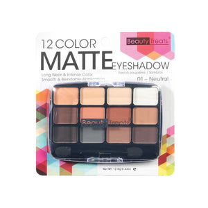 412-01 - 12 COLOR MATTE EYESHADOW - NEUTRAL