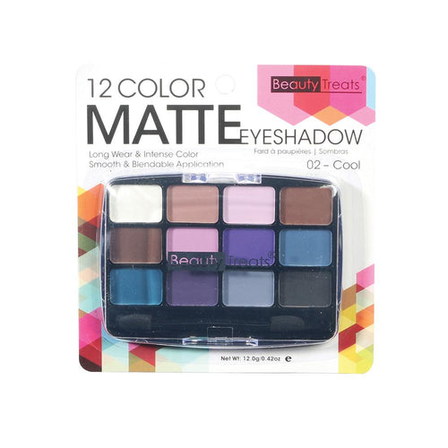 412-02 - 12 COLOR MATTE EYESHADOW - COOL