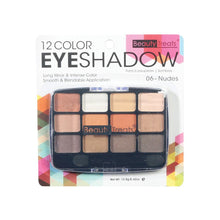 Load image into Gallery viewer, 412-06 - 12 COLOR EYESHADOW - NUDES