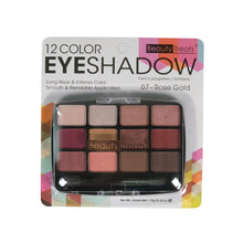 Load image into Gallery viewer, 412-07 - 12 COLOR EYESHADOW - ROSE GOLD