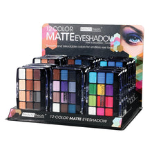 Load image into Gallery viewer, 412 - 12 COLOR MATTE EYESHADOW DISPLAY