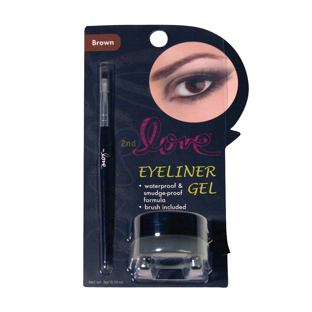 830BR - 2ND LOVE EYELINER GEL WITH BRUSH (BROWN)