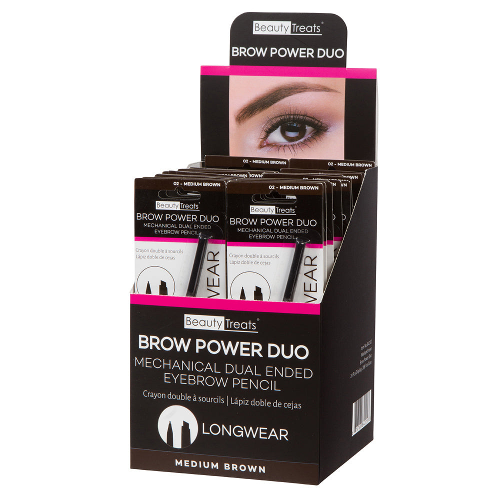 842-02 - BROW POWER DUO (MEDIUM BROWN)