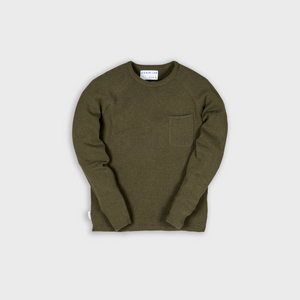 frame knit - army green - 7g - 100% Italian wool