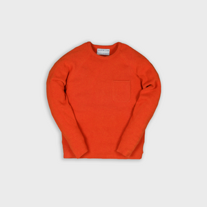 frame knit - orange - 7g - 100% Italian wool