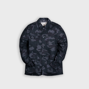 hunter jacket - black denim camo