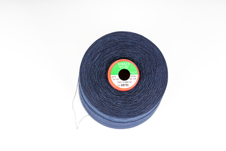 sewing thread coats dual duty  -  8975i - tex105 true indigo