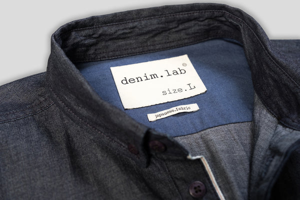 Denim.lab hidden shirt - selvage compact dry selvage