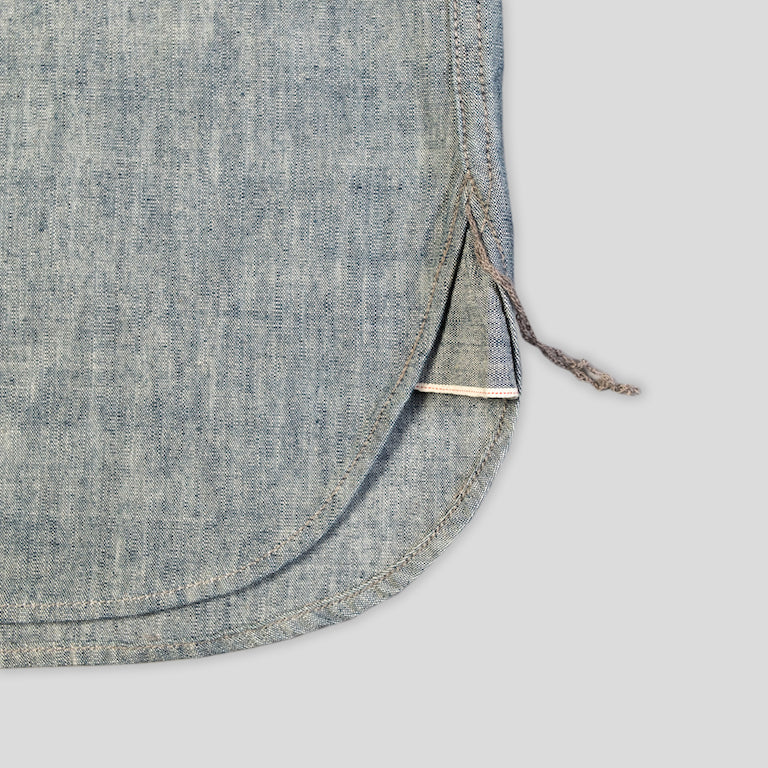 hidden shirt - selvage greencast chambray