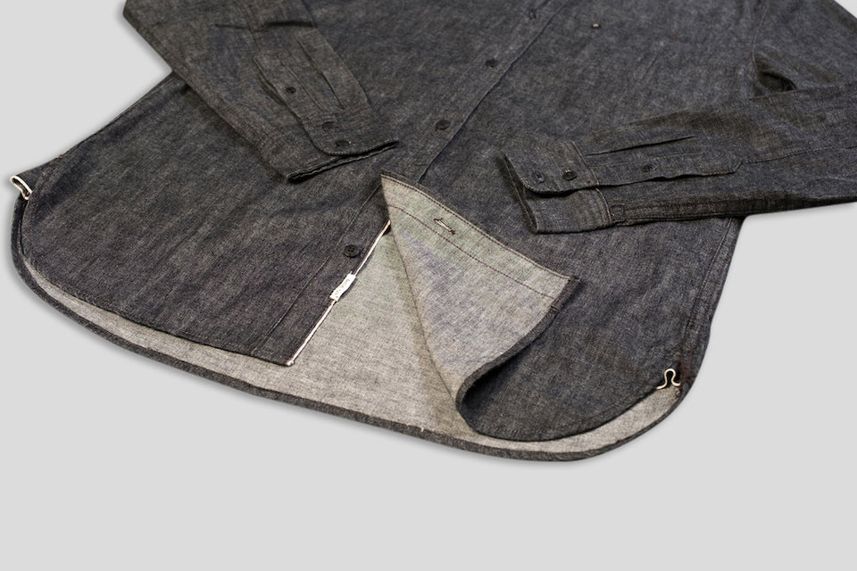 Denim.lab hidden shirt - selvage black 2/1