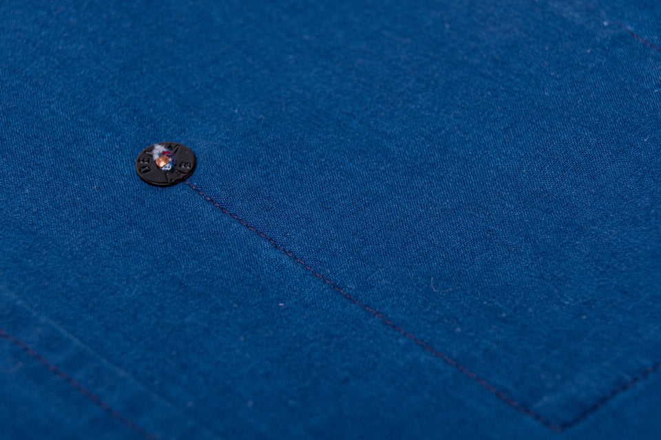 hidden shirt - selvage indigo poplin