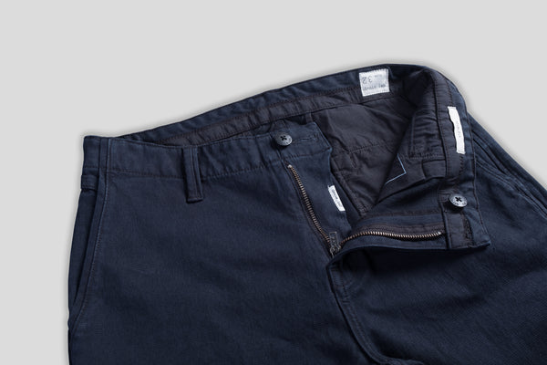 Denim.lab slim chino Bragg - black OD