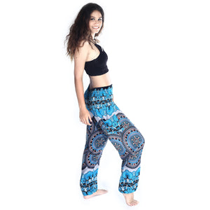 Boho Pants Blooming Aqua Harem Pants