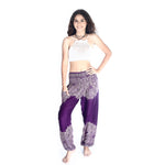 Boho Pants Floral Purple Bohemian Pants