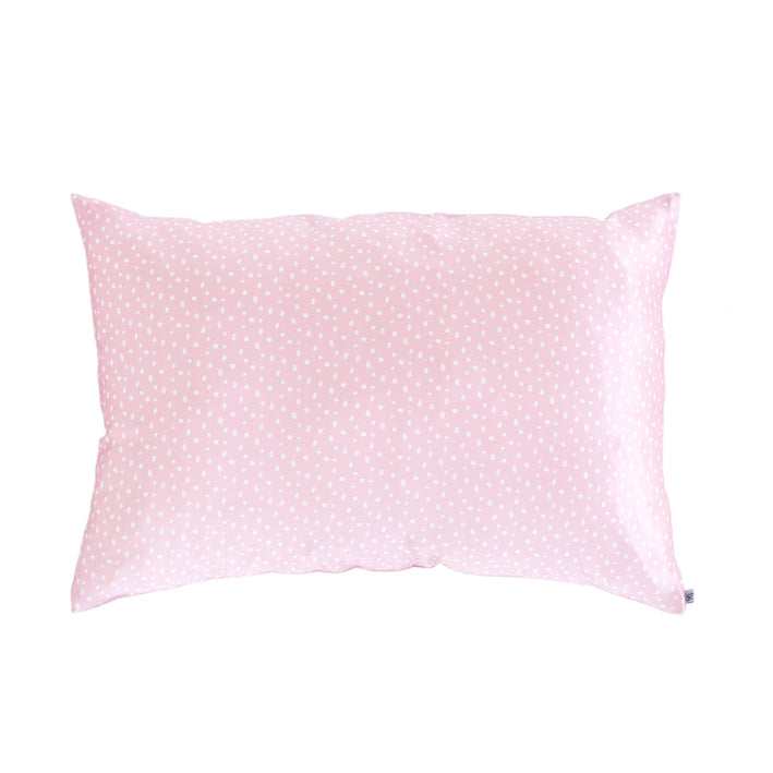 silk pillow slip, silk pillow case, silky tots, pink sprinkles